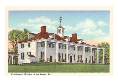 Washingtons-Mansion-Mt-Vernon-Virginia-Print-C10278367