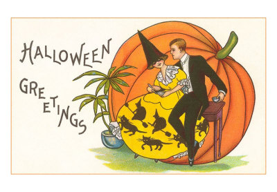 Halloween-greetings-couple-at-party