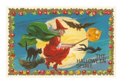 The-halloween-spirit-witch-on-broom