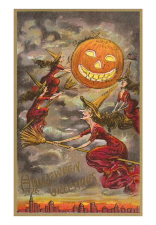 Halloween-greetings-witches-and-jack-olantern