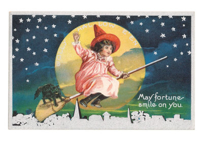 May-fortune-smile-on-you-halloween-girl-on-broomstick