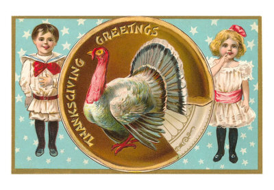 Greetings-children-with-turkey