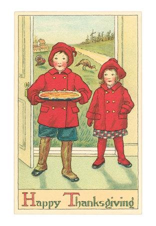 Children-bringing-pie