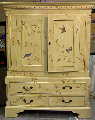 Hand-Painted-Armoire Judith Bird Art