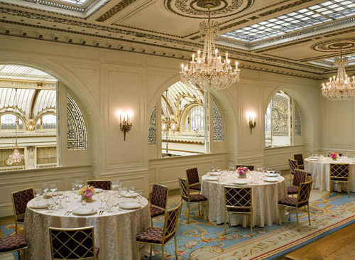 Palace Hotel French Parlor overlooking Garden Court