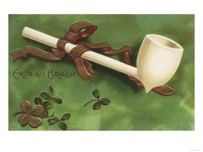St-patricks-day-greeting--erin-go-bragh-ivory-pipe