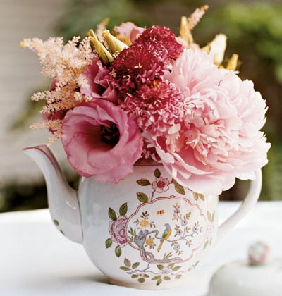 Teapots With Flowers