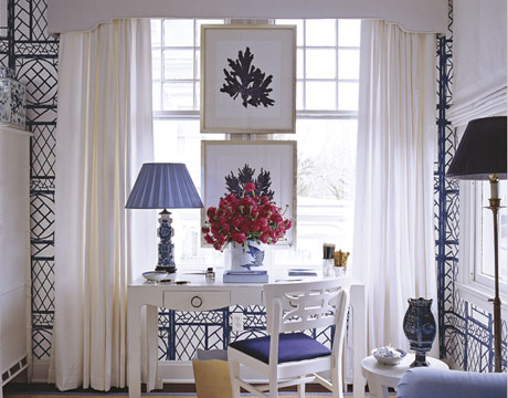 Blue And White Decor seasons for all at home: adding red to blue and white decor