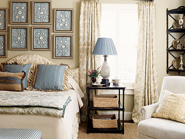 Seasons For All At Home Bedrooms In Blue Taupe White